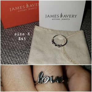 James avery LOVE ring